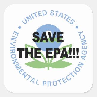 Sticker Carré Sauvez l'EPA