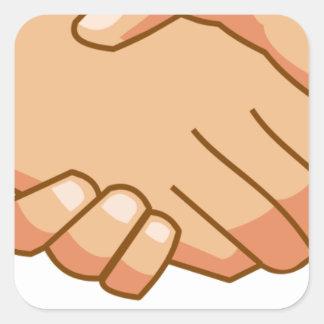 Sticker Carré Se serrer la main