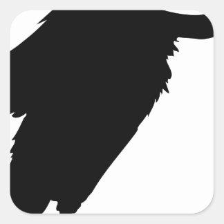 Sticker Carré Séance de vautour