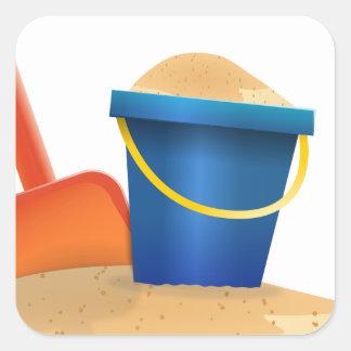Sticker Carré Seau de sable