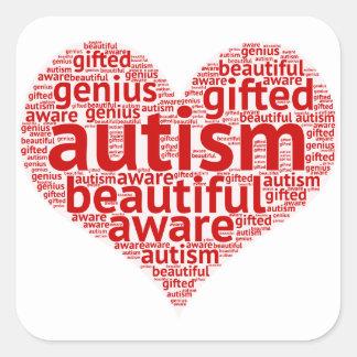 Sticker Carré Sensibilisation sur l'autisme
