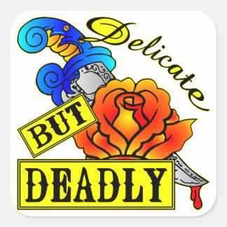 Sticker Carré © sensible mais mortel de