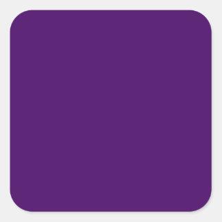 Sticker Carré Seulement couleur solide profonde pourpre OSCB15