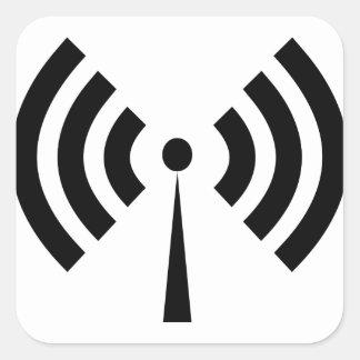 Sticker Carré Signal de Wifi