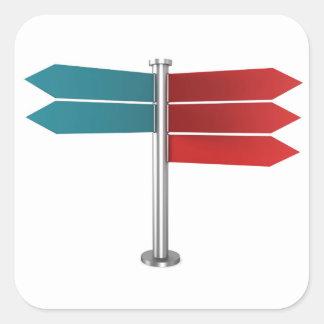 Sticker Carré Signaux de direction