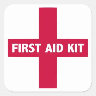 Sticker Carré Signe de kit de premiers secours