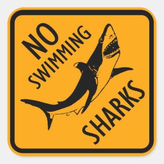 Sticker Carré Signe de l'Australie de requins (paquet de 6/20)