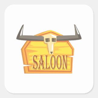 Sticker Carré Signe de salle avec le dessin de tête morte
