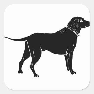 Sticker Carré Silhouette de chien