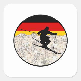 Sticker Carré Ski Allemagne