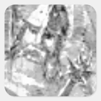 Sticker Carré soldat barbu