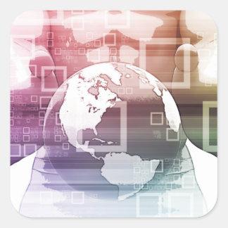 Sticker Carré Sommet global et convention internationale C de