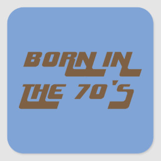 Sticker Carré Soutenu pendant les années 70