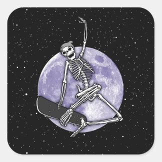 Sticker Carré Squelette de conseil