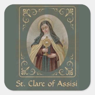 Sticker Carré St Clare d'Assisi