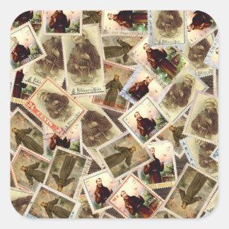 Sticker Carré St Francis des timbres-poste d'Assisi