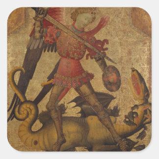 Sticker Carré St Michael et le dragon