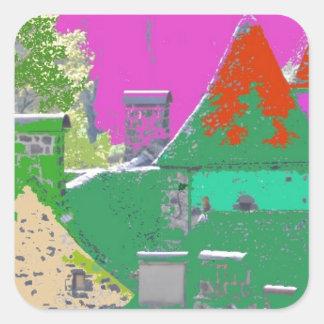 Sticker Carré stvincent-couleurs aleatoires