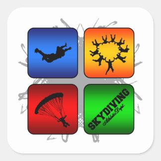 Sticker Carré Style urbain de parachutisme extraordinaire