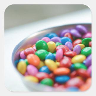 Sticker Carré sucrerie colorée