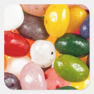 Sticker Carré Sucrerie douce colorée fraîche de dragées à la