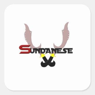 Sticker Carré sundaneses de logo