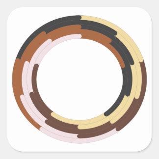 Sticker Carré Support pour le symbole racial d'unité