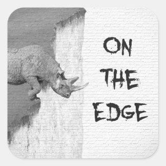Sticker Carré Sur The Edge
