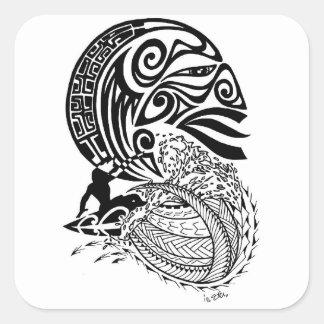 Sticker Carré Surf de minuit
