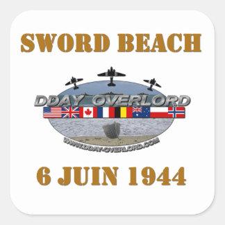 Sticker Carré Sword Beach 1944