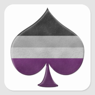 Sticker Carré Symbole asexuel d'as de fierté
