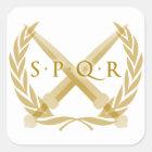 Sticker Carré Symbole de SPQR