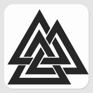 Sticker Carré Symbole nordique Odin de protection des norses de