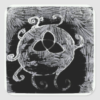 Sticker Carré symbole wiccan pour les sorcières