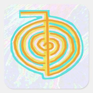 Sticker Carré Symboles de NOVINO ReikiHealing n KARUNA Reiki