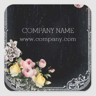 Sticker Carré Tableau floral botanique vintage chic minable