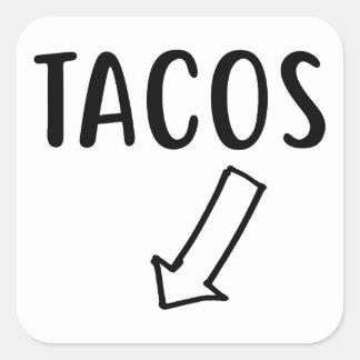 Sticker Carré Tacos