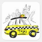 Sticker Carré taxi de newyork