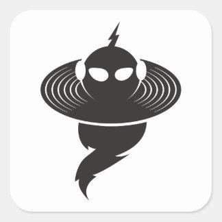 Sticker Carré Tempête de musique