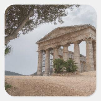 Sticker Carré Temple grec chez Segesta, Sicile