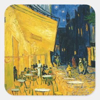 Sticker Carré Terrasse de café de Vincent van Gogh |, Place du