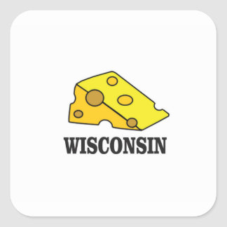 Sticker Carré Tête de fromage du Wisconsin