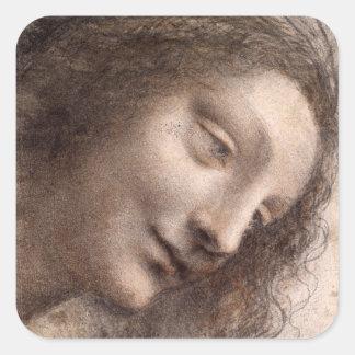 Sticker Carré Tête de Vierge