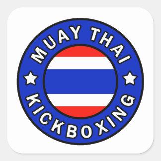 Sticker Carré Thaïlandais de Muay