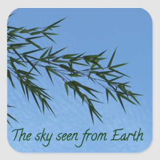 Sticker Carré the sky seen from earth