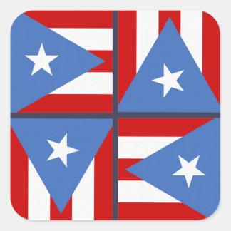 Sticker Carré Thème de partie de Porto Rico : Motif audacieux de
