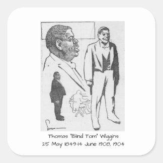 """Sticker Carré Thomas """"Tom aveugle"""" Wiggins, 1904"""