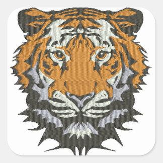 Sticker Carré tigre