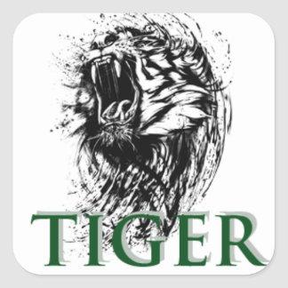 STICKER CARRÉ TIGRE