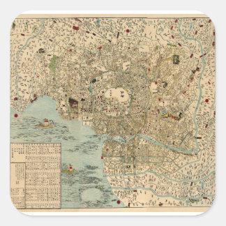 Sticker Carré Tokyo 1854